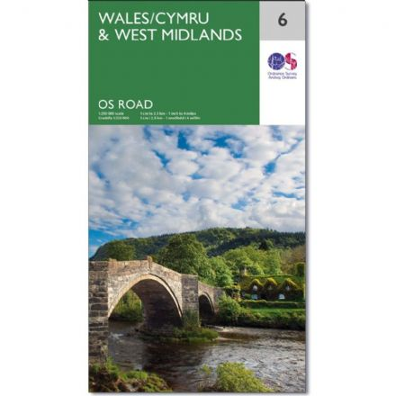 Ordnance Survey Road Map 6 - Wales/Cymru & West Midlands